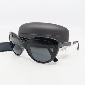 SPR 04V 1AB-1A1 Prada Black/Gray Cat Eye Sunglass